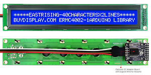 Blue Iic i2c twi Character 40x2 Serial Lcd Module Display For Arduino W library