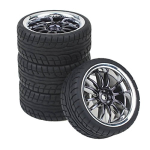 Shaluoman 12 spoke Plating Hub Wheel Rims With Soft Rubber Tires For Rc 1 10 On
