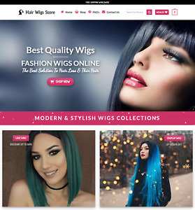 Profitable Hair Wigs Store Turnkey Dropship Website Business For Sale