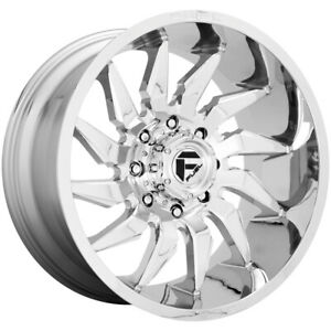 4 Fuel D743 Saber 20x9 8x180 1mm Chrome Wheels Rims 20 Inch