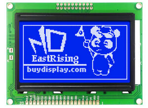 Low cost 12864 128x64 Graphic Lcd Display Module Blue White Color