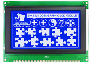 Low cost 240128 240x128 Graphic Lcd Display Module Blue White Color