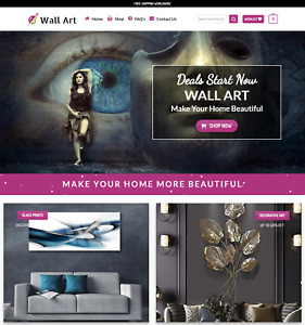 Profitable Wall Art Store Turnkey Dropship Website Business For Sale