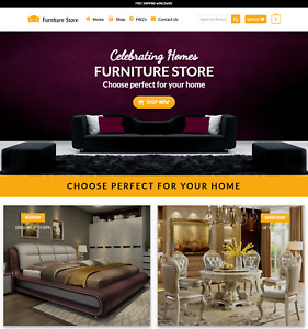 Profitable Furniture Store Turnkey Dropship Website Business For Sale