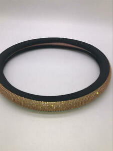 Diamond Leather Steering Wheel Cover For Women Girls With Crystal Rhinestones