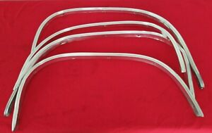 1966 Chevy Chevelle El Camino Wheel Well Opening Trim Moldings 4 Moulding Set Gm