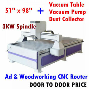 51x98in Multifunctional Cnc Routers Woodworking Engraving Routers Vacuum System