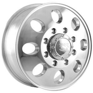 Ion 167 Dually Front 16x6 8x6 5 102mm Polished Wheel Rim 16 Inch