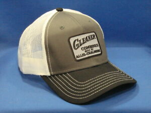Gleaner Combines Allis Chalmers Tractor Hat Black charcoal white Twill Mesh