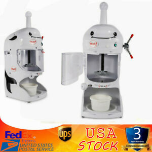 Commercial grade Electric Snow Cone Maker Crusher Shaving Cold Drink Ice Shaver