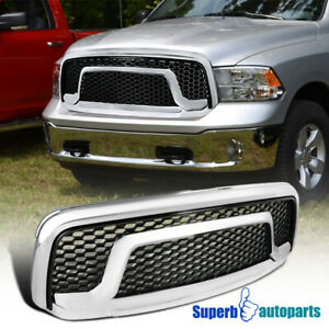 For 2013 2018 Dodge Ram 1500 Abs Honeycomb Front Bumper Hood Grille Rebel Style