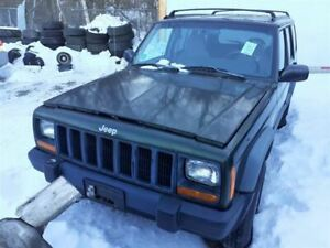 Front Bumper Smooth Painted End Caps Fits 97 01 Cherokee 20568