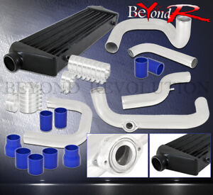 For Civic Del Sol D15 D16 Bolt On 2 5 Black Turbo Intercooler Upgrade Piping Kit