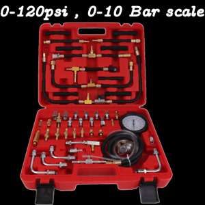 Manometer Fuel Injection Pressure Tester Gauge Kit System 0 120 Psi Universal