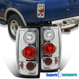 For 97 02 Ford Expedition Replacement Tail Lights Rear Brake Lamps Pair