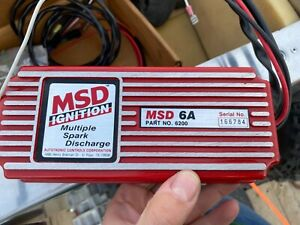 Msd 6a Ignition Box 6200 Multiple Spark Discharge