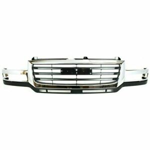 New Gm1200568 Front Grille Plastic For Gmc Sierra 2500 Hd 2003 2006