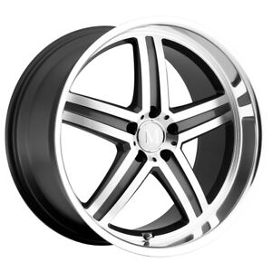 4 Mandrus Mannheim 19x8 5 5x112 43mm Gunmetal Mirror Wheels Rims