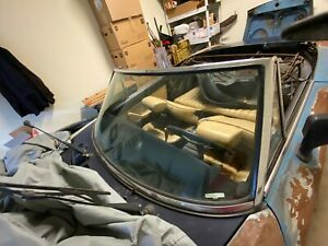 Fiat 124 Spider 2000 Windshield Chrome Frame Complete Out Of My 1982 Very Nice