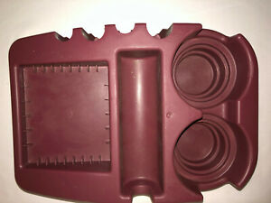 Auto Floor Console Cup Holder Coin Cassette Old School Type Maroon Dark Red