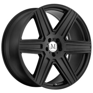 4 Mandrus Atlas 16x7 6x130 52mm Matte Black Wheels Rims