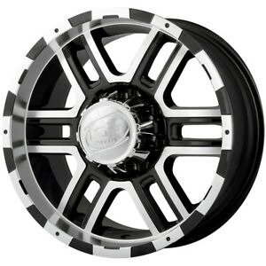 4 ion 179 16x8 8x170 10mm Black machined Wheels Rims 16 Inch