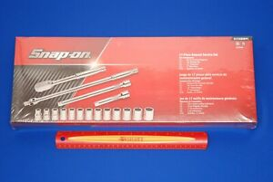 New Sealed Snap on 17 Pc 1 2 Drive 6 Point Metric General Service Socket Set