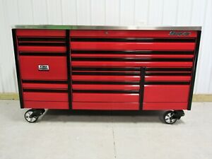 Snap On Candy Apple Red 84 Epiq Power Drawer Tool Box Power Stainless Top