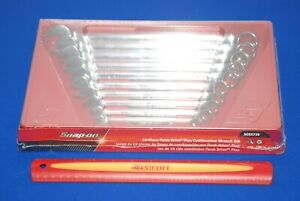 New Snap on Tools 10 Piece Sae Flank Drive Plus Combination Wrench Set Soex710