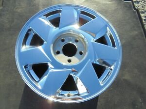 17 2000 To 2002 Cadillac Deville Dts 7 Spoke Factory Chrome Alloy Wheel 4553