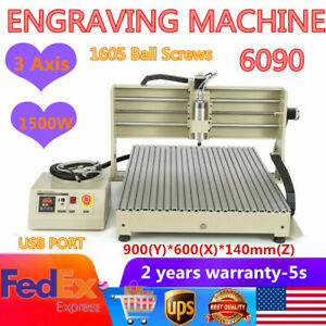 Usb 3axis Cnc 6090 Router Engraver Engraver Woodworking Milling Cutting Machine
