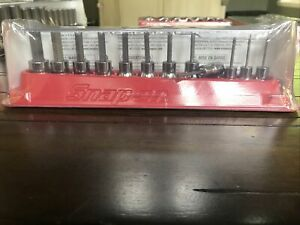 Snap On 12 Pc Sae Standard Hex Driver Bit Socket Set 212eftay Free 2 Day Fedex