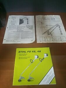 Post Hole Digger Instructions Manual 2 Stihl Weedeater Manual Lot Of 3 Manuals