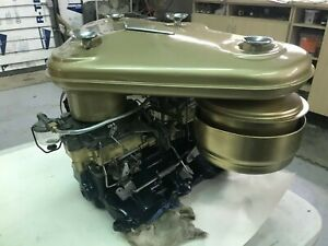 1955 56 Cadillac Dual Quad Intake Carburetorss And Air Cleaner