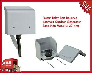 Power Inlet Box Reliance Controls Outdoor Generator Base Non Metallic 20 Amp