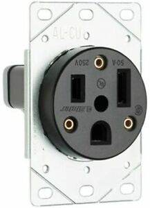 3804 Pass And Seymour Straight Blade Single Receptacle Nema 6 50r 50a 250v Boxed