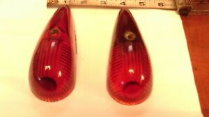 Vintage Glass Trailer Truck Dietz 533 Pair Red Cab Lens Classic Truck Camper