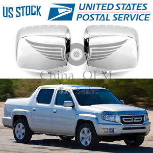 For Honda Ridgeline 2006 2013 2014 Chrome Plated Mirror Covers Molding Trims