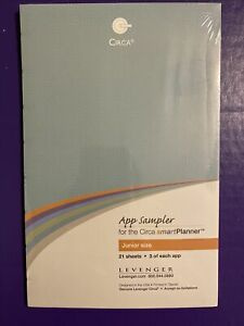 For Circa Smart Planner App Sampler Junior Size 21 Sheets Levenger 3 each App