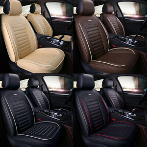 Car 5 Seat Covers Full Set Waterproof Leather Universal for Auto Sedan SUV Truck $66.99