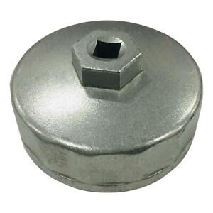 New Hot Silver 74mm Oil Filter Cap Wrench Socket Remover Tool Fit For Audi Vw