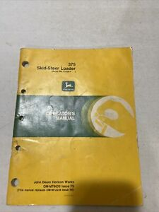 John Deere 375 Skid steer Loader Operator s Manual