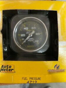 Auto Meter Fuel Pressure Gauge Mechanical Carbon Fiber Series 4712
