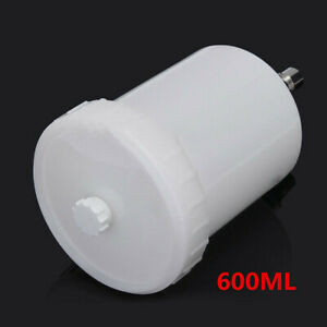 Paint Spray Cup Pot White Connector Jet Tool For Sata Sprayer 180x100x13mm
