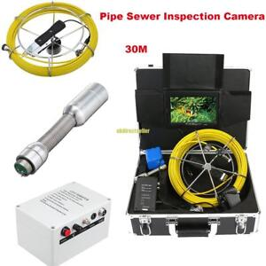 30m Sewer Waterproof Camera 7 Color Lcd Drain Pipe Pipeline Inspection System