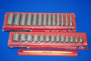 New Snap On Tools 26 Piece 1 2 Drive 12 Point Sae Shallow Deep Socket Set