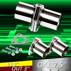 Three Bolts 3 Od Universal Quickfix Exhaust Triangle Flange Repair Pipe Kit