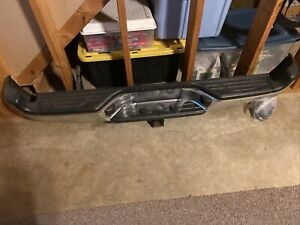 2013 Toyota Tacoma Chrome Rear Bumper Assembly With Receiver Oem