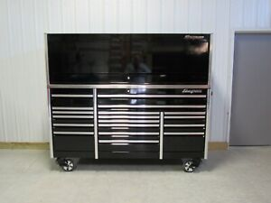 Snap On Black 84 Epiq All Drawer Tool Box Stainless Steel Power Top