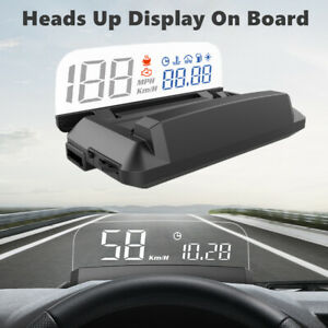 Car Hud Head Up Display Obd2 Overspeed Warning System Speed Voltage Alarm B7x5